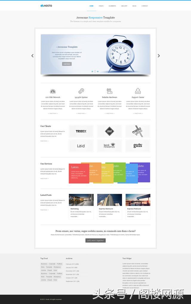 简单和清洁的前端模板源码适用于公司和画廊