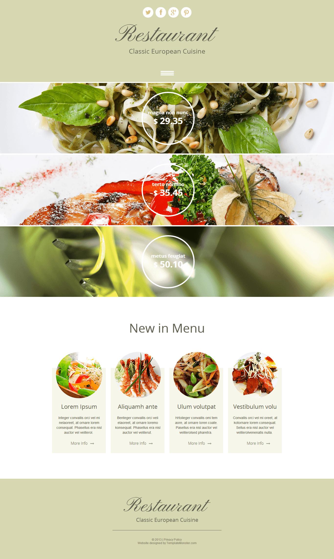 响应式西餐厅HTML企业网站模板源码