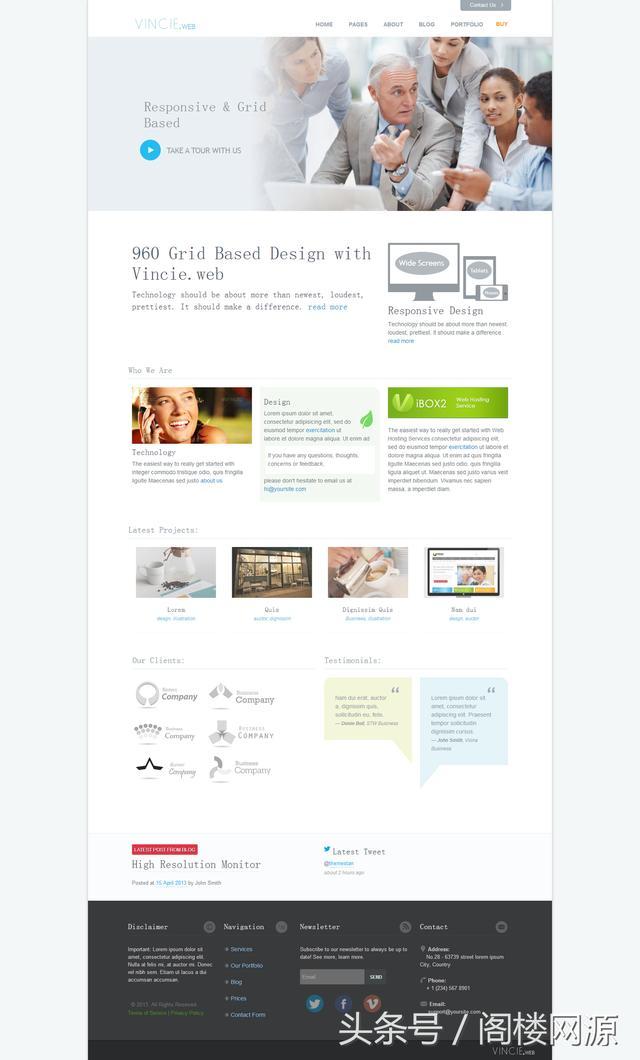 网站托管服务公司响应式网站前端模板源码